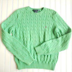 Ralph Lauren Golf Cable Knit Cotton Sweater